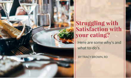 Struggling with Satisfaction with your eating? Here are some why's and what to-do's.