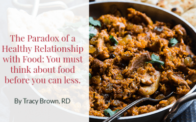 The Paradox of a Healthy Relationship with Food: You must think about food before you can less.